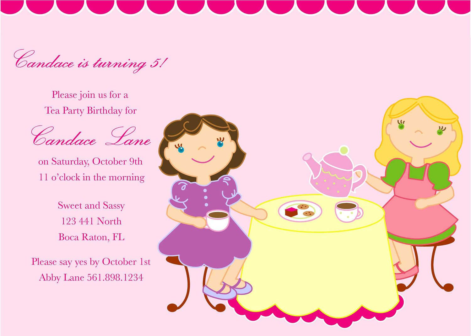 Birthday Invitations Text Ideas