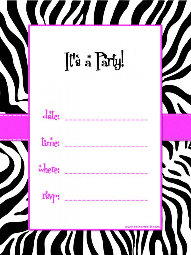 Birthday Invite Template Pages