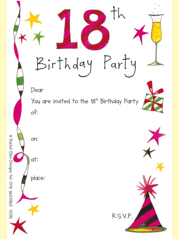 Birthday Invite Template Photoshop