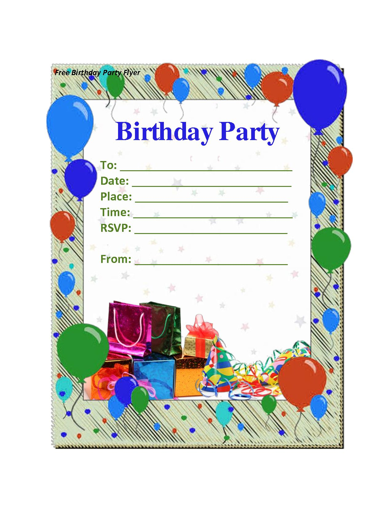 Birthday Invite Template Uk
