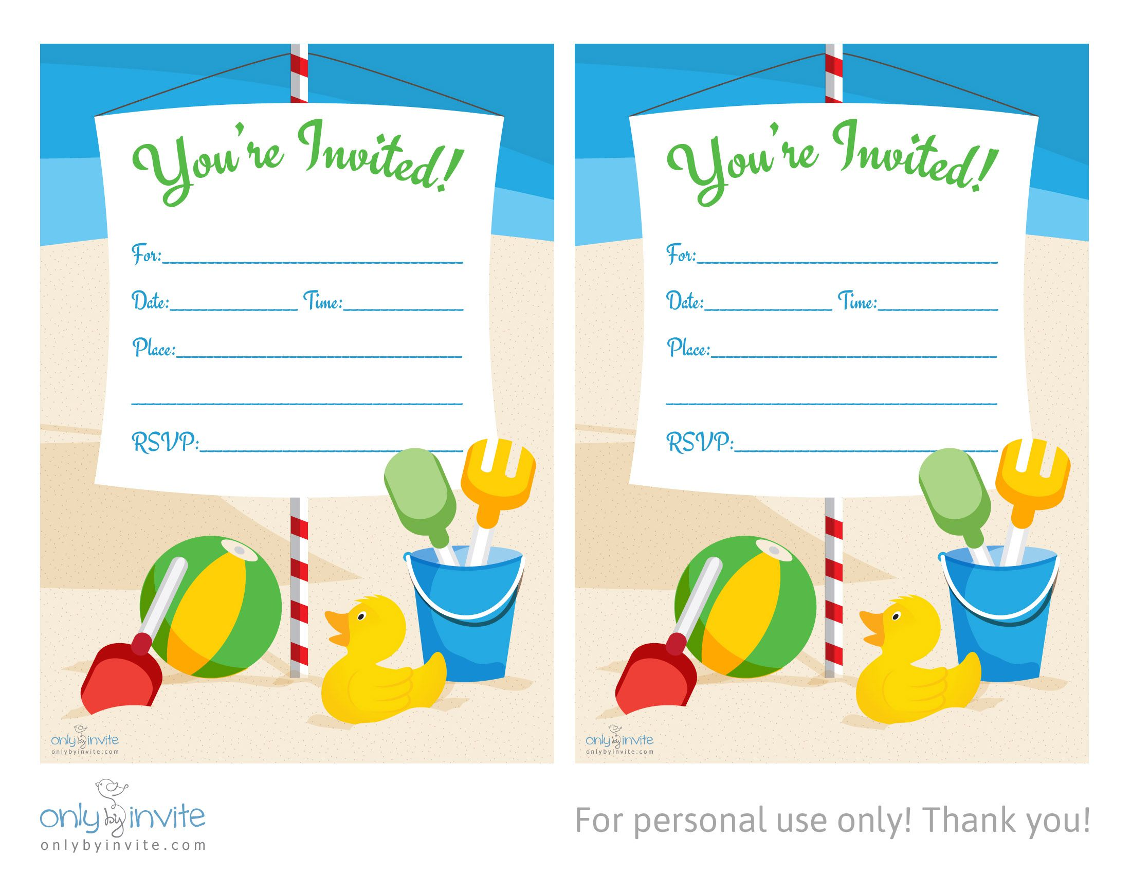 Birthday Invite Templates Online