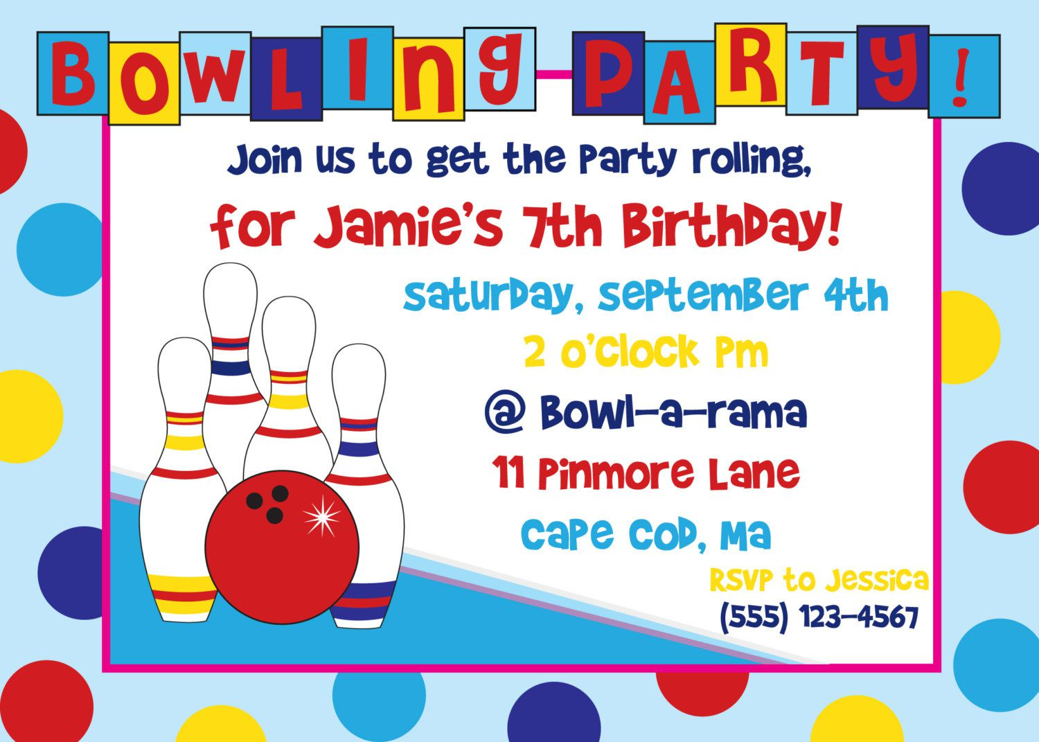 Bowling Birthday Party Invitations Online