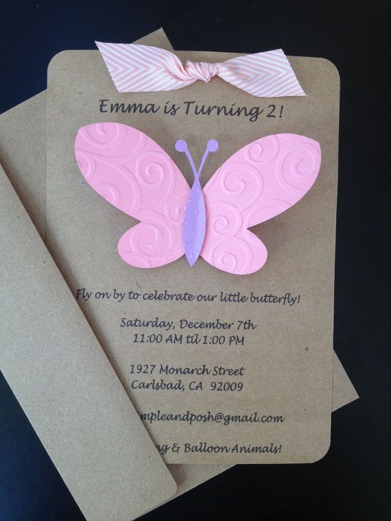 Butterfly Birthday Invitations Free