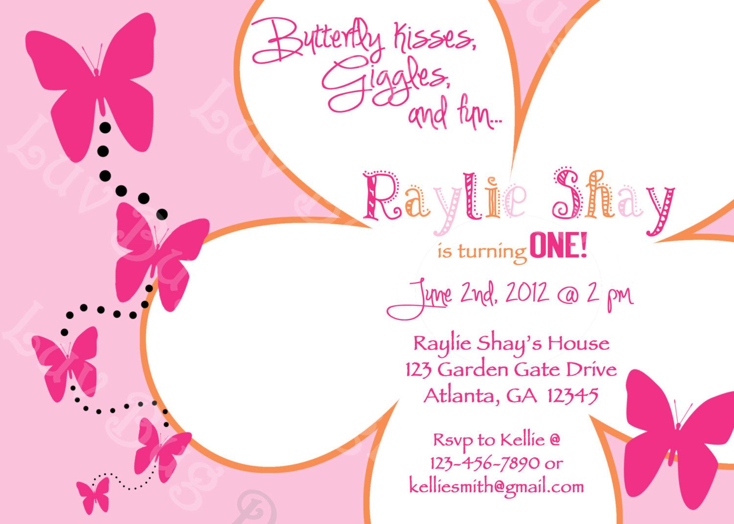 Butterfly Birthday Invitations Online