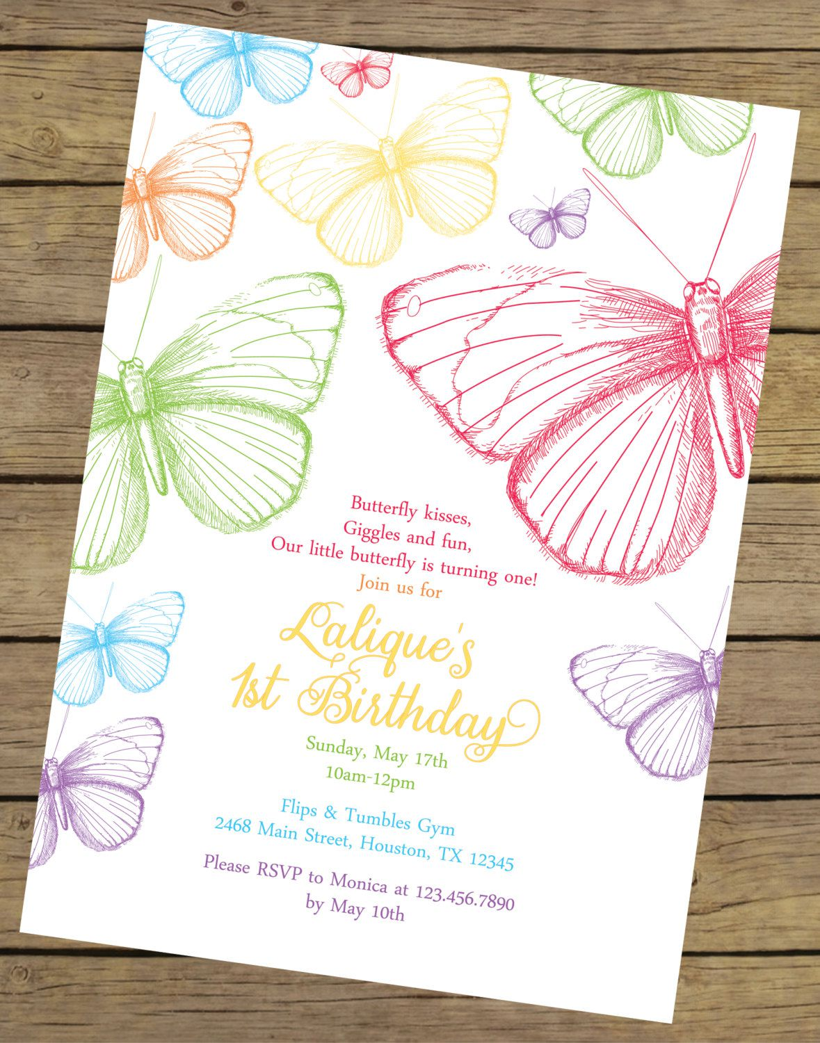 Butterfly Birthday Invitations Pinterest