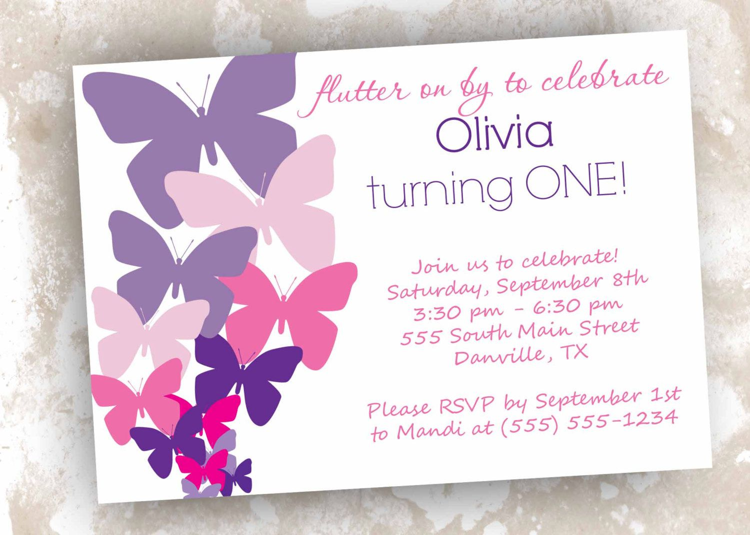 Butterfly Birthday Invitations Printable