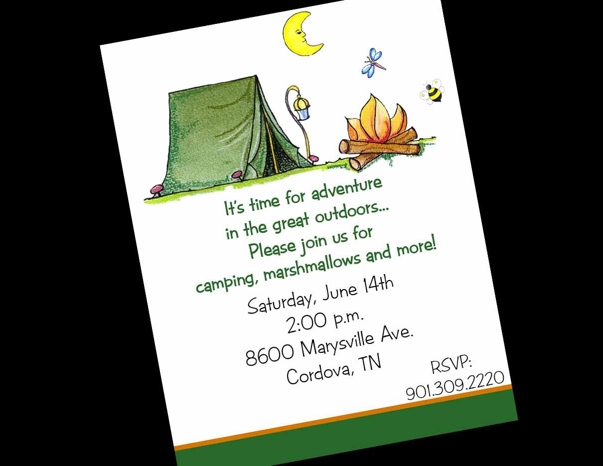 Camping Party Invitations Australia