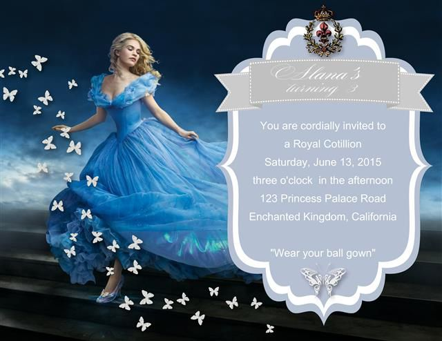 Cinderella Birthday Invitation Ideas