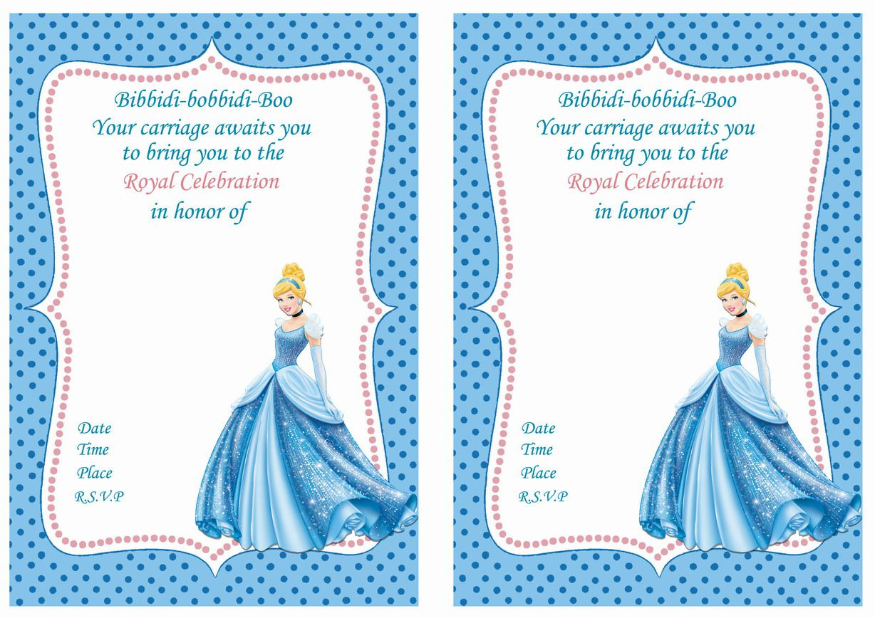 Cinderella Birthday Invitations Wording
