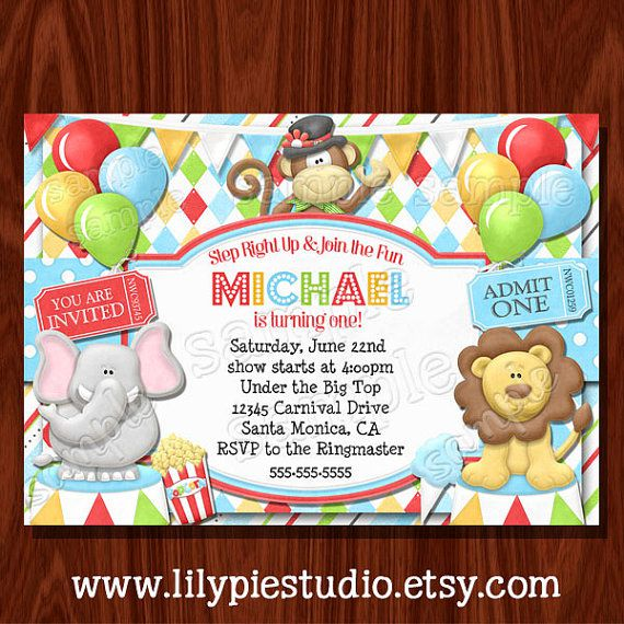 Circus Birthday Invitations Wording