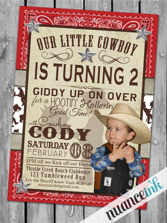Cowboy Birthday Invitations Templates