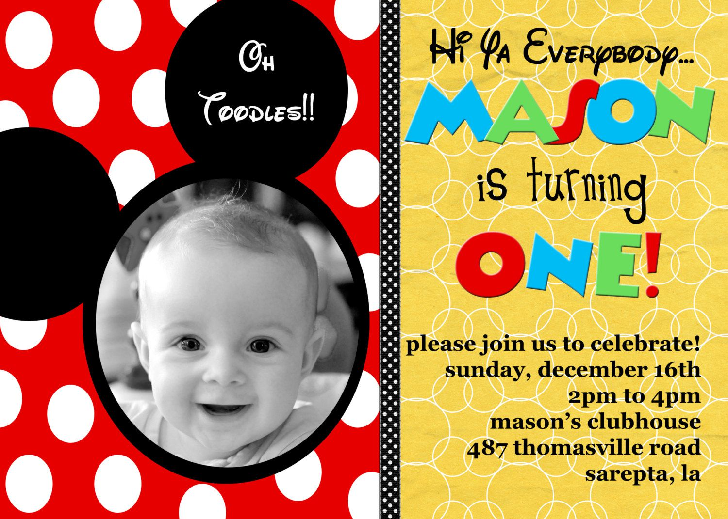 Custom Birthday Invitations Australia
