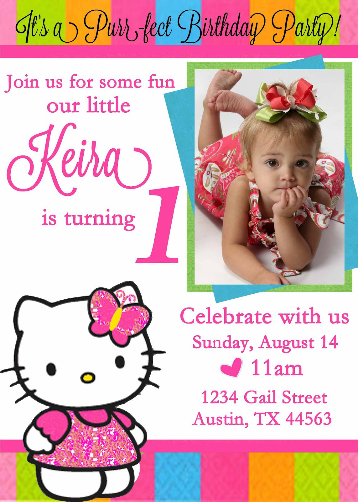 Custom Birthday Invitations With Photo