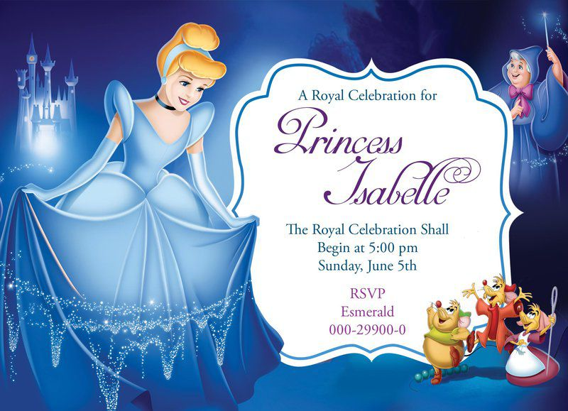 Custom Cinderella Birthday Invitations