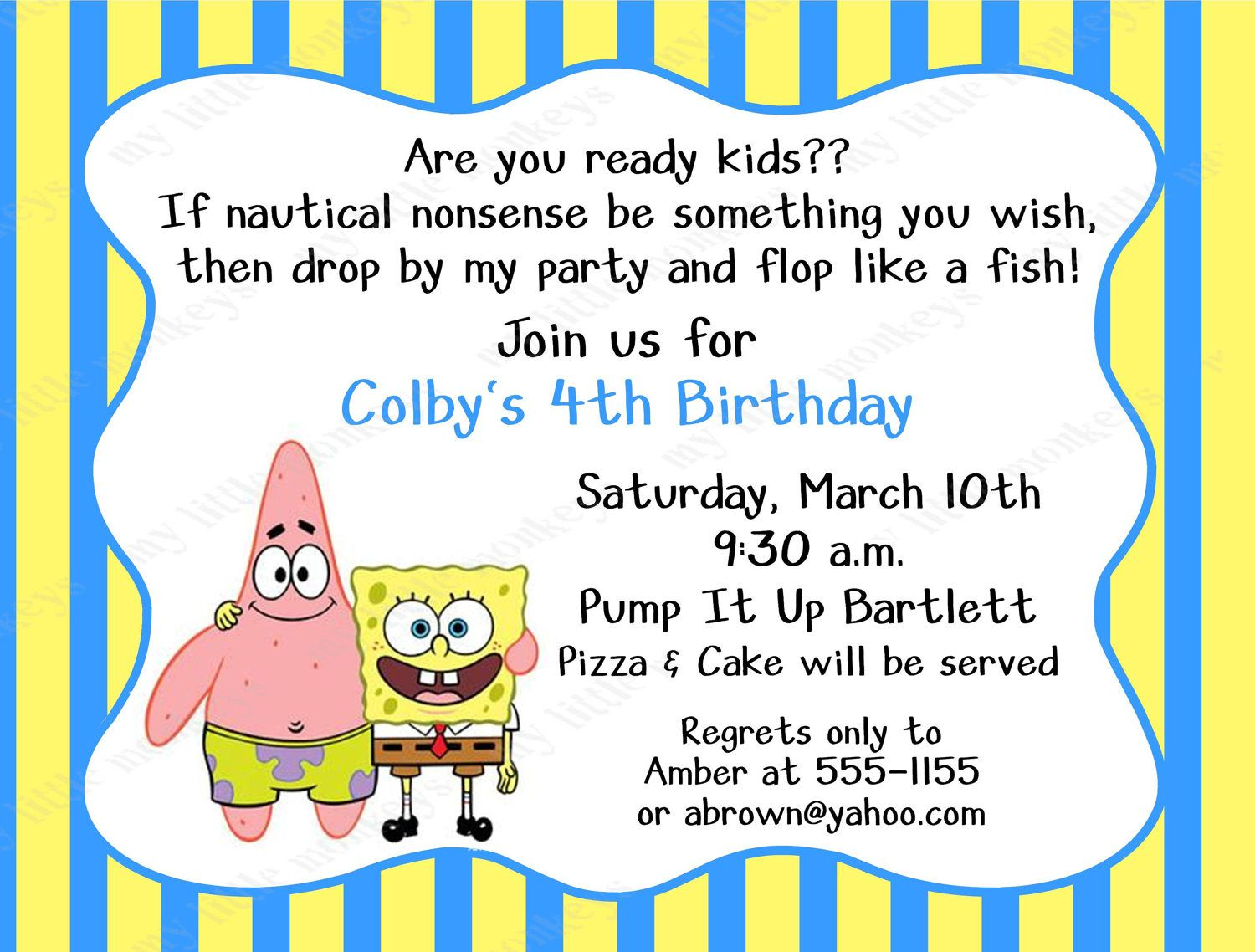 Design Your Own Birthday Invitation Cards