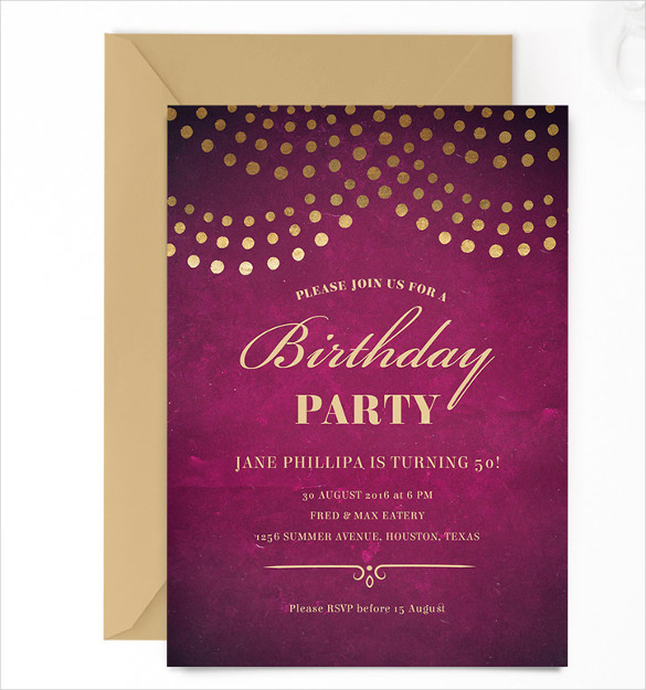 Electronic 21st Birthday Invitations