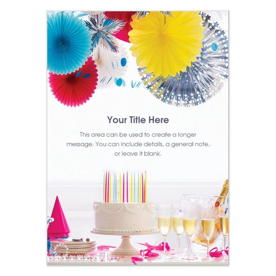 Electronic First Birthday Invitations