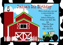 Farm Themed Birthday Invitation Wording