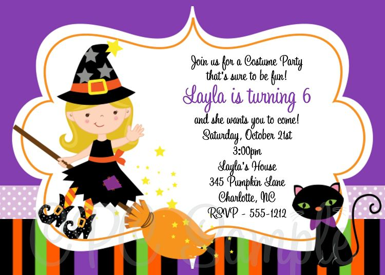 Halloween And Birthday Party Invitations
