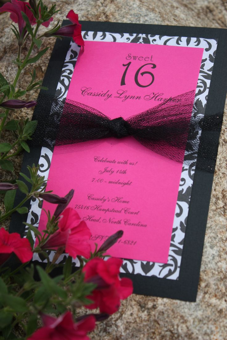 Homemade Birthday Invitations Pinterest