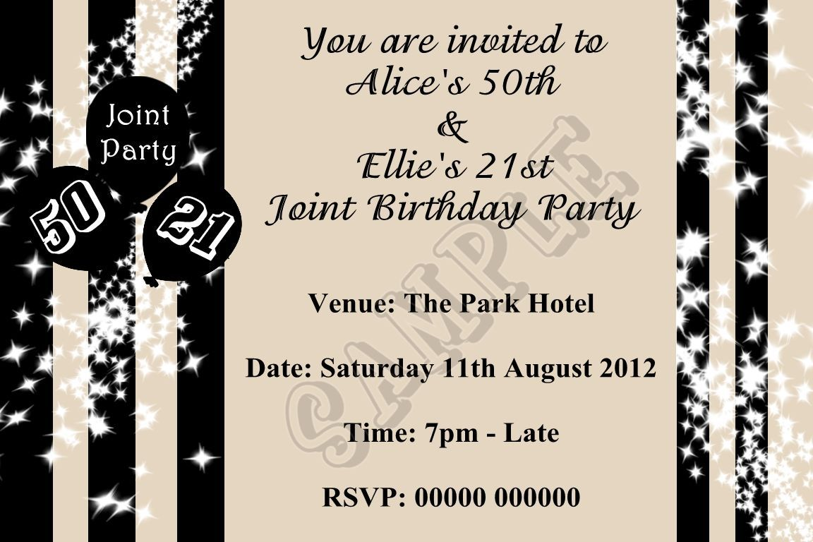 Joint Birthday Invitations For Adults Wording