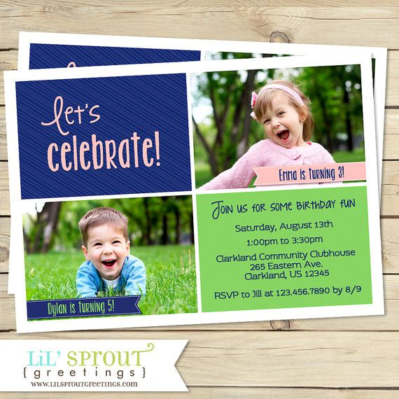 Joint Birthday Invitations For Adults