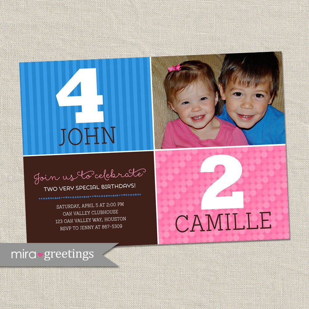 Joint Birthday Invitations Wording