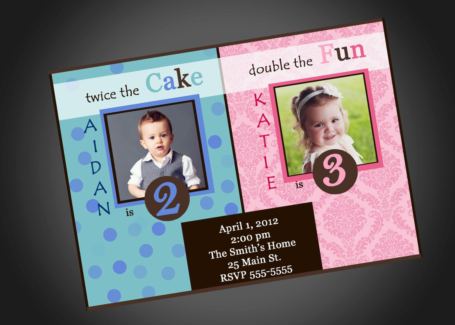 Joint Birthday Invitations