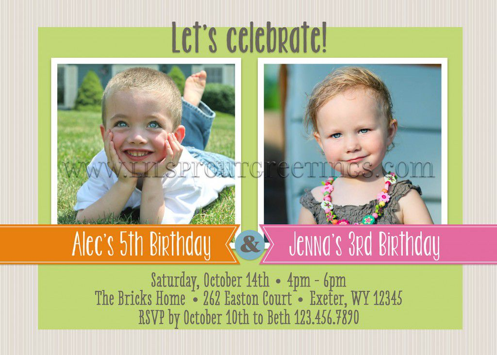 Joint Birthday Party Invitations Australia