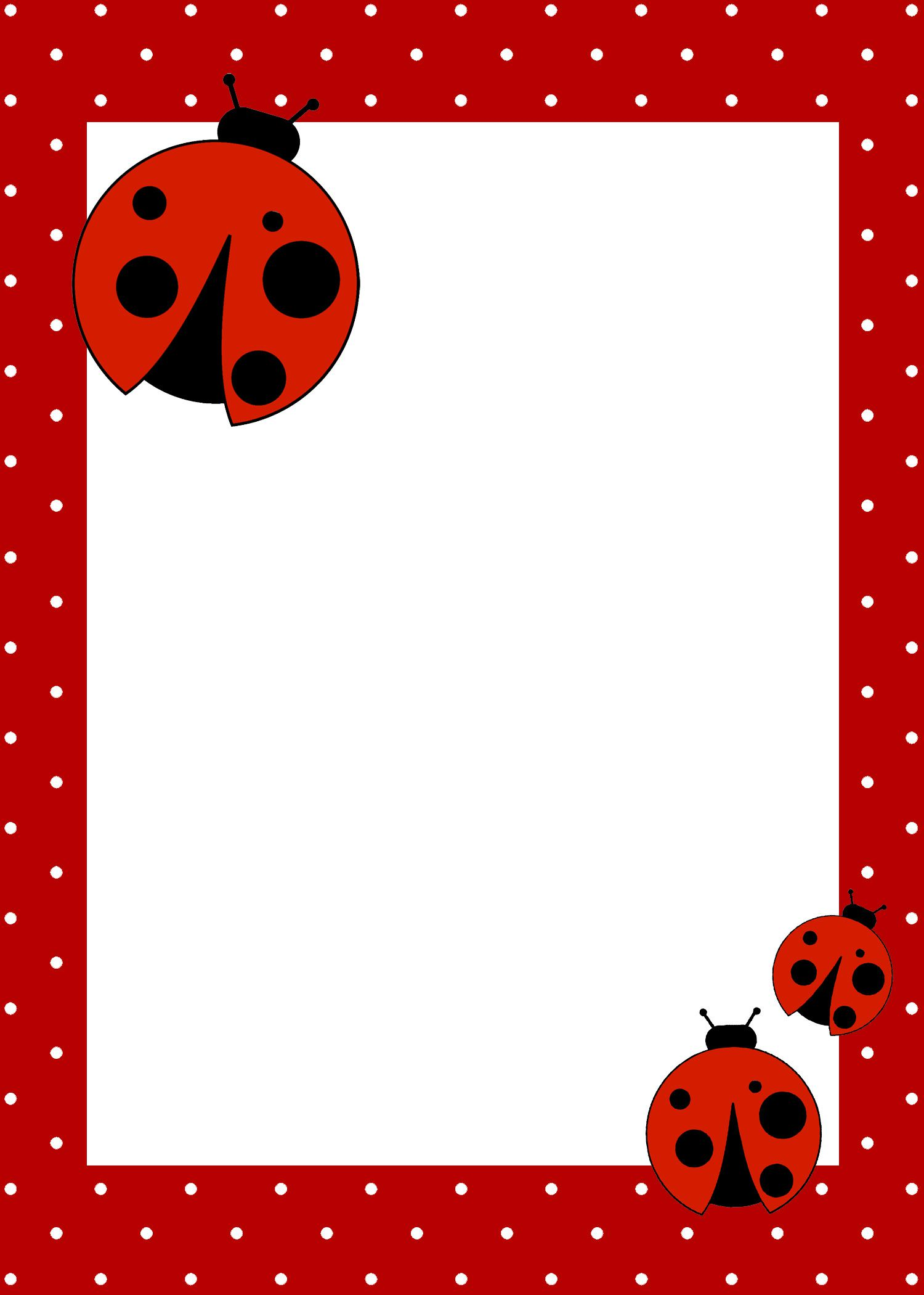 Ladybug Birthday Invitations For Twins