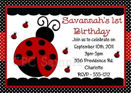 Ladybug Birthday Invitations Online