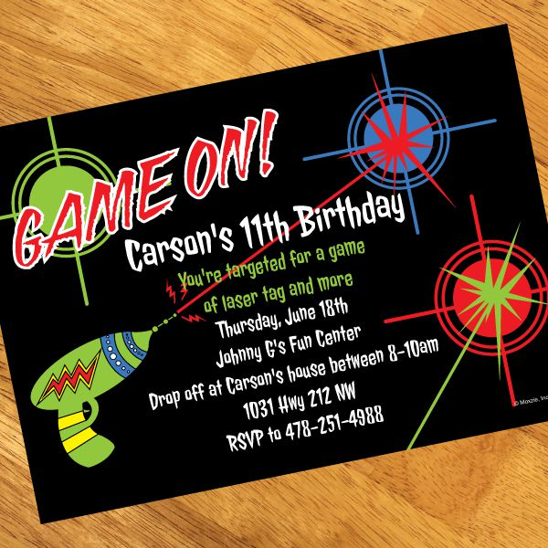 Laser Tag Birthday Invitations Printable