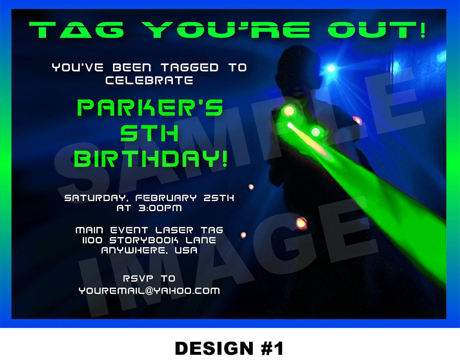 Laser Tag Birthday Invitations Wording