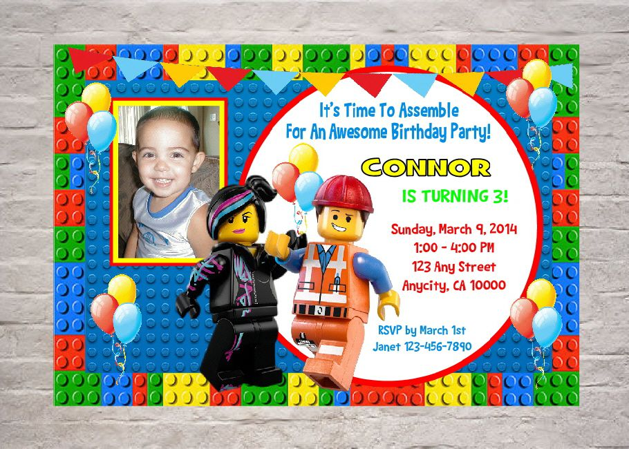 Lego Birthday Invitations Amazon