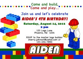 Lego Birthday Invitations Etsy