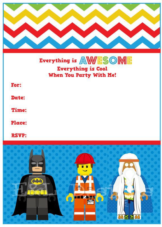 Lego Birthday Invitations Free