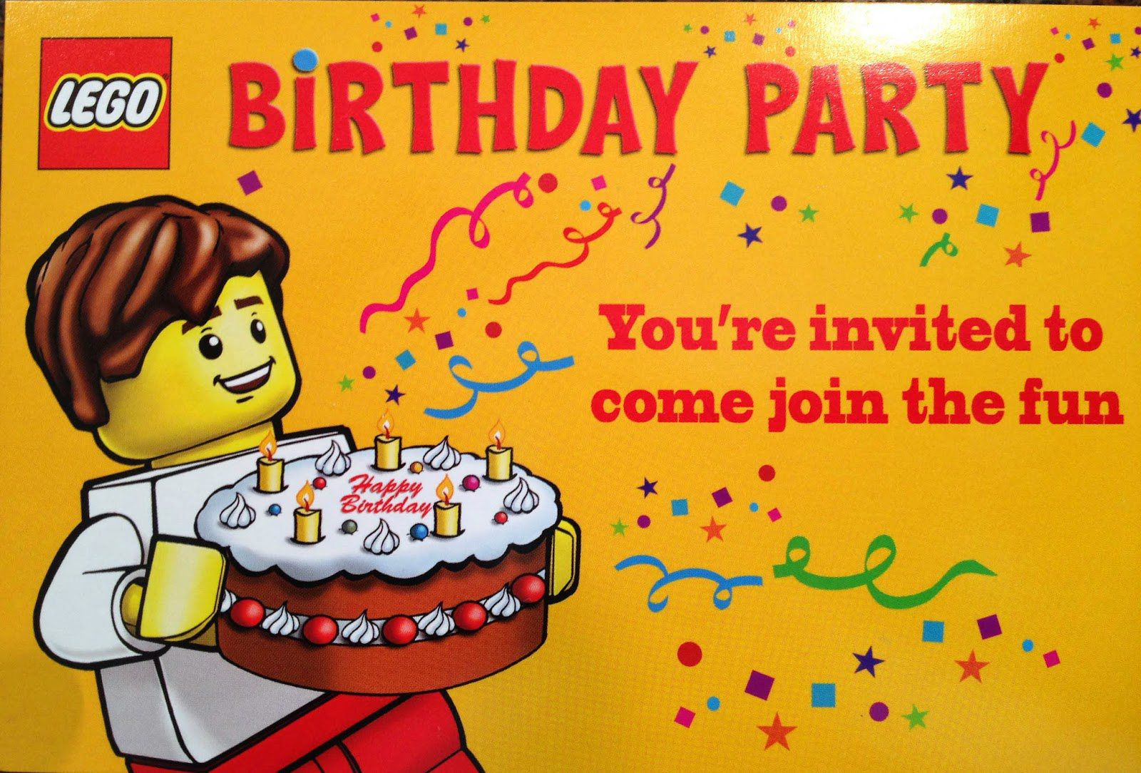 Lego Birthday Invitations Ideas