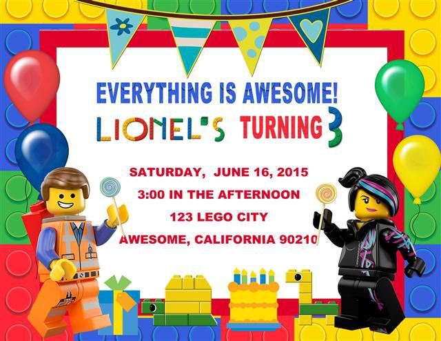 Lego Birthday Invitations Nz