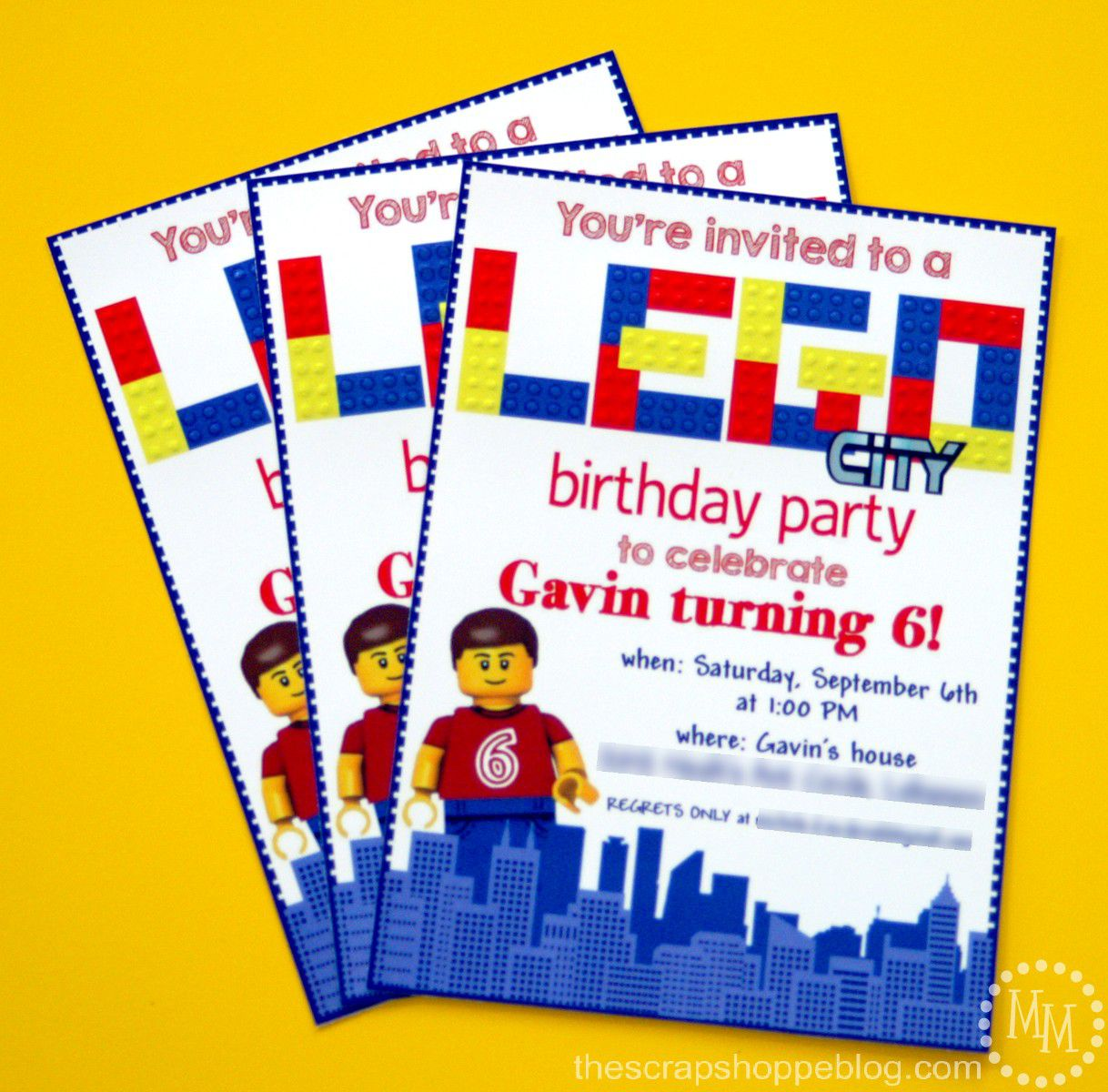 Lego Birthday Invitations Online