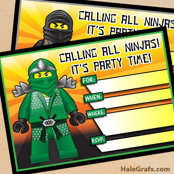 Lego Birthday Invitations Walmart