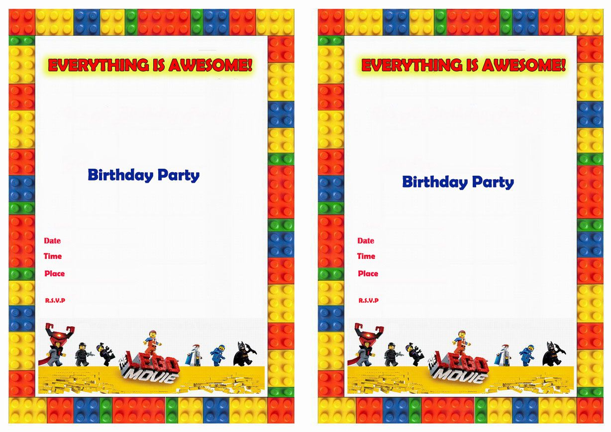 Lego Party Invitations Australia