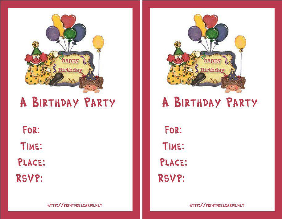 Make Birthday Invitations Free Online