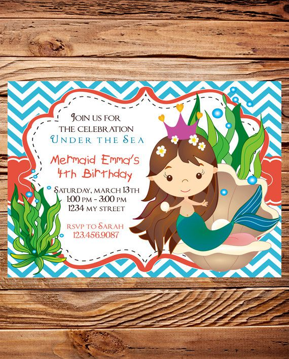 Mermaid Birthday Invitations Nz
