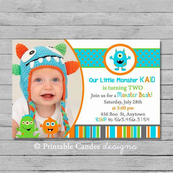 Monster Birthday Invitations Free