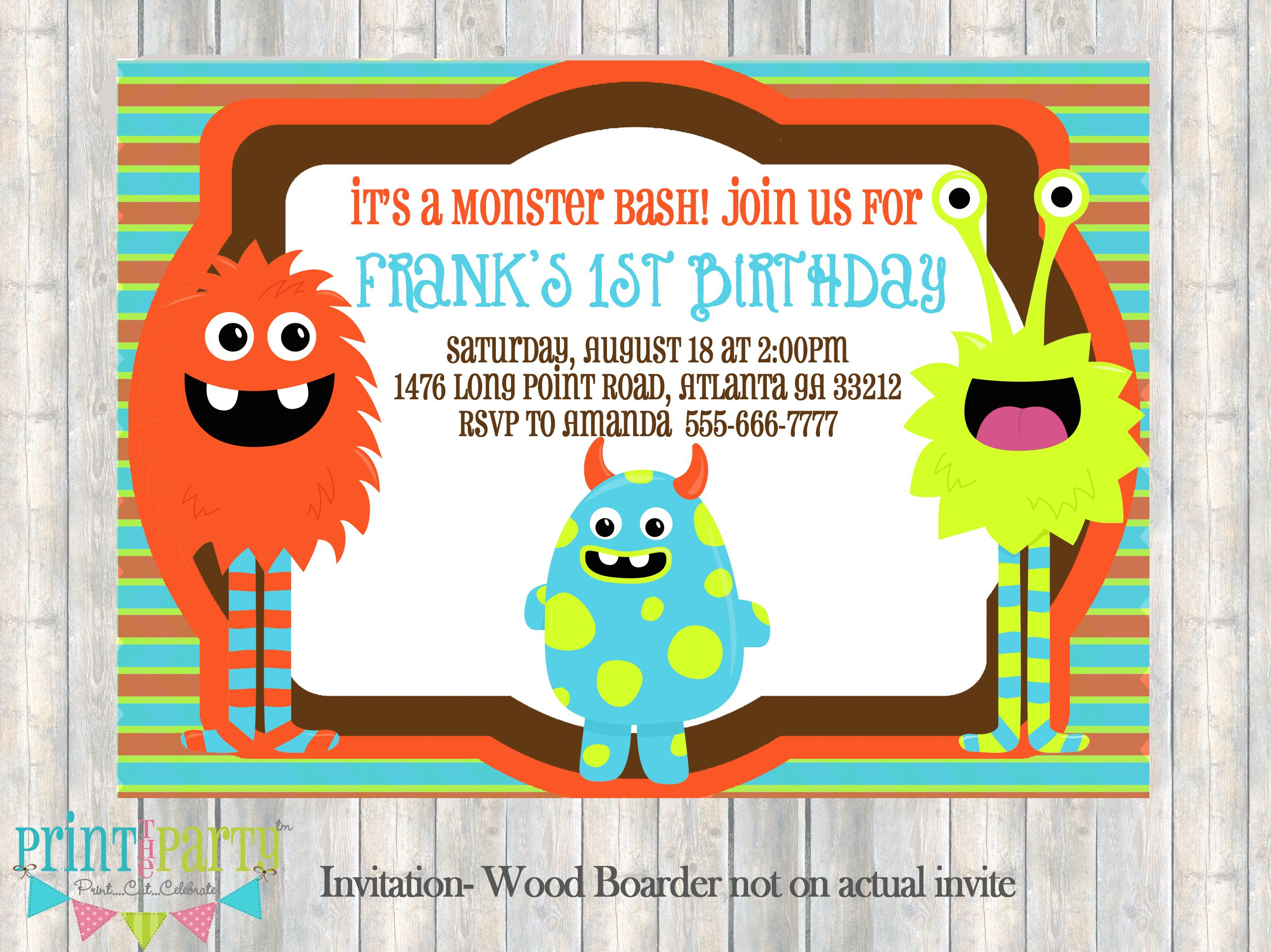 Monster High Birthday Invitations