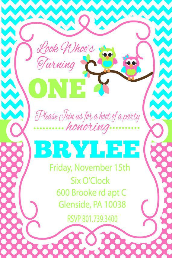 Owl Birthday Invitations Australia