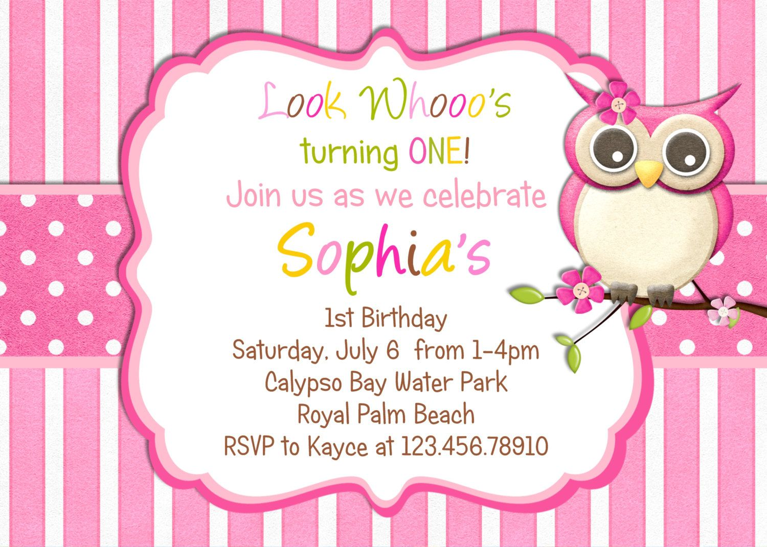 Owl Birthday Invitations Online