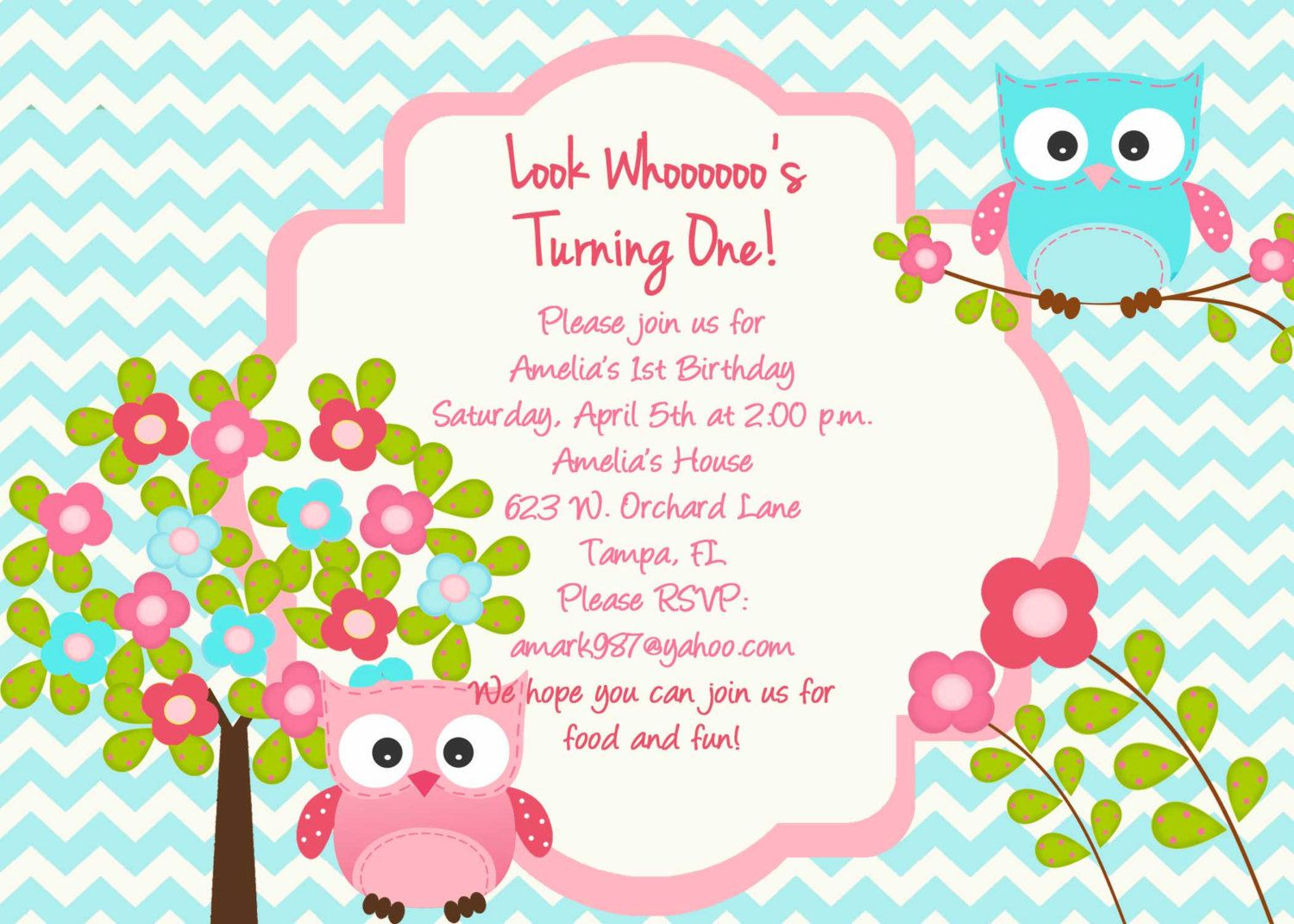 Owl Birthday Invitations Party City