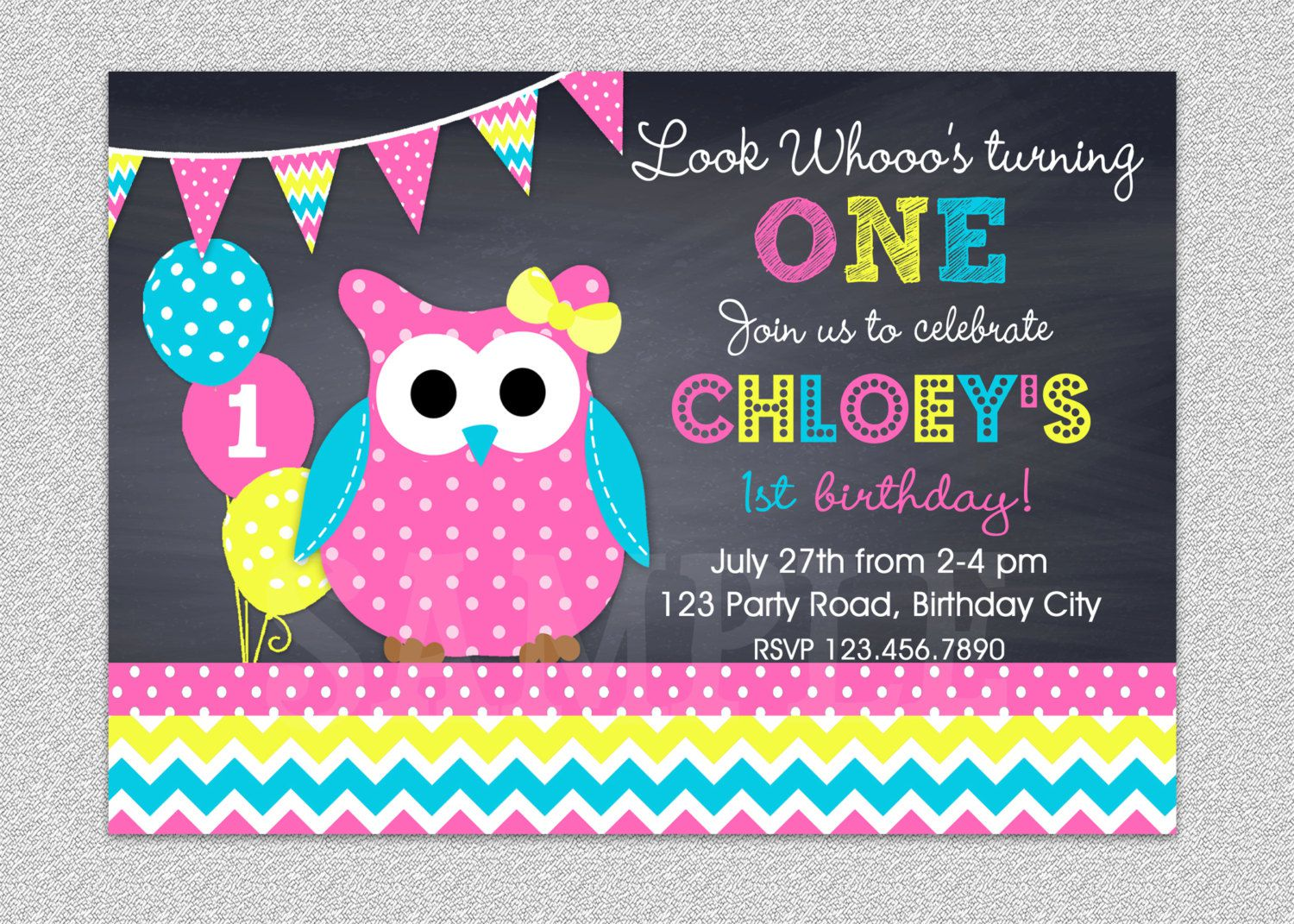 Owl Birthday Invitations Shutterfly