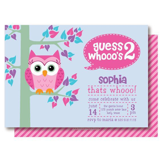 Owl Birthday Invitations Template Free
